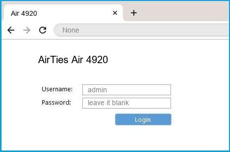 Airties Default Password