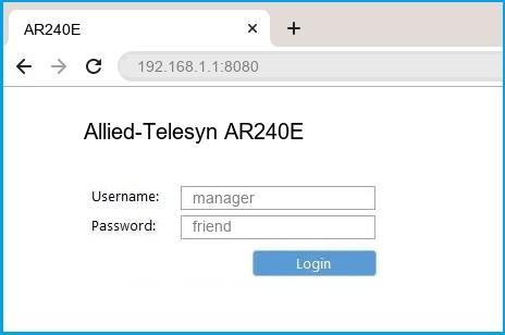 Allied-Telesyn AR240E router default login
