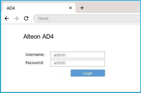 Alteon AD4 router default login