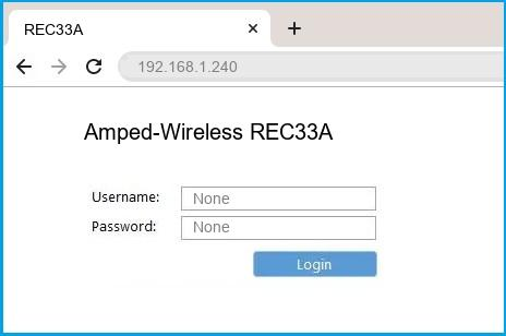 Amped-Wireless REC33A router default login