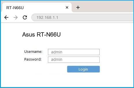 Asus RT-N66U router default login