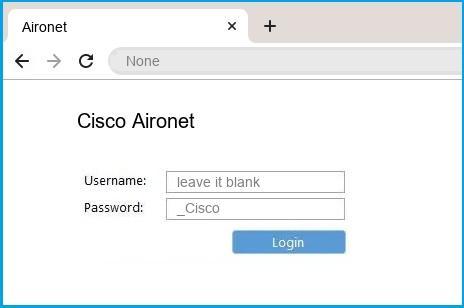 Cisco Aironet router default login