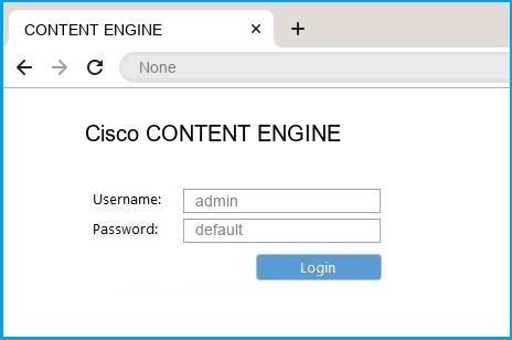 Cisco CONTENT ENGINE router default login