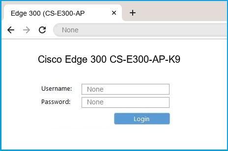 Cisco Edge 300 CS-E300-AP-K9 router default login