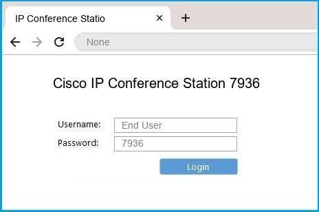 Cisco IP Conference Station 7936 router default login