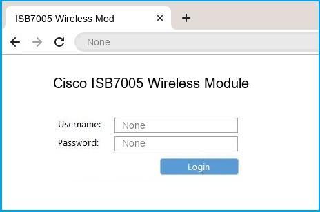 Cisco ISB7005 Wireless Module router default login