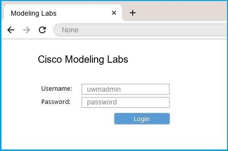 Cisco Modeling Labs router default login