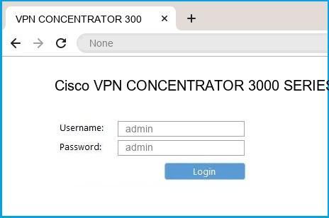 Cisco VPN CONCENTRATOR 3000 SERIES router default login