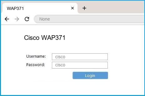 Cisco WAP371 router default login