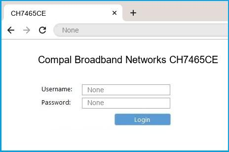 Compal Broadband Networks CH7465CE router default login
