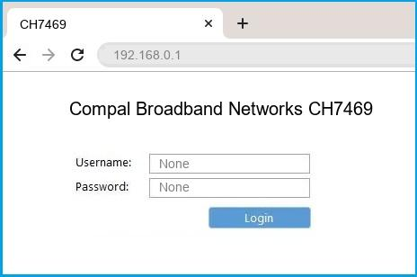 Compal Broadband Networks CH7469 router default login