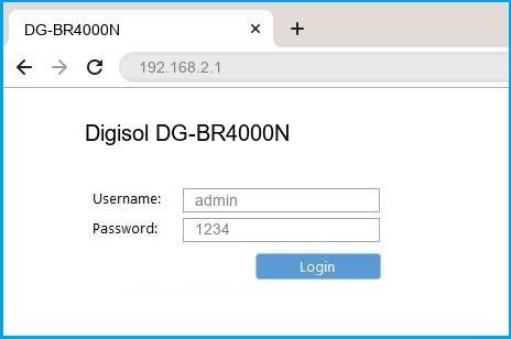 Digisol DG-BR4000N router default login