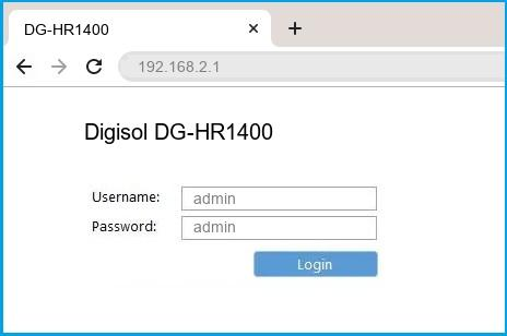 Digisol DG-HR1400 router default login