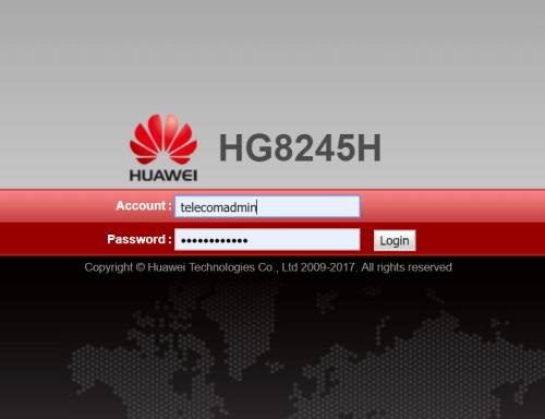 192 168 100 1 Huawei Hg8245h Router Login And Password