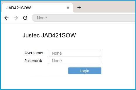 Justec JAD421SOW router default login