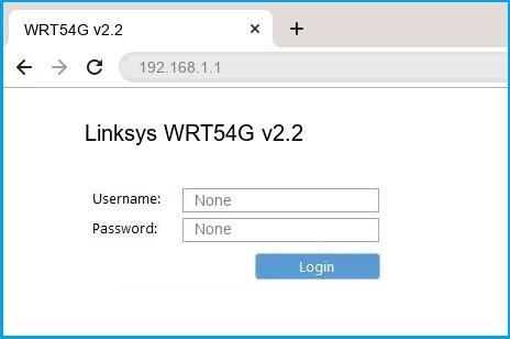 Linksys WRT54G v2.2 router default login