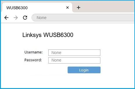 Linksys WUSB6300 router default login