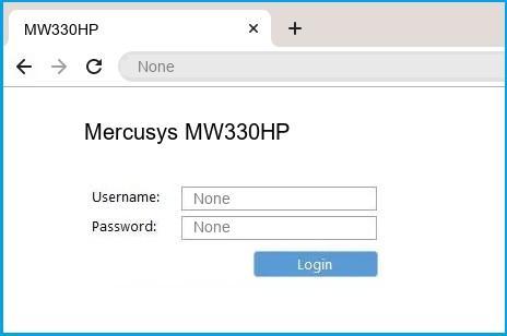 Mercusys MW330HP router default login