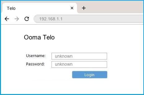 Ooma Telo router default login