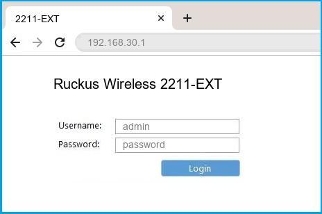 Ruckus Wireless 2211-EXT router default login