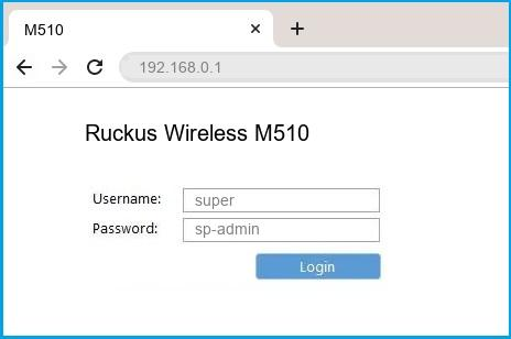 Ruckus Wireless M510 router default login