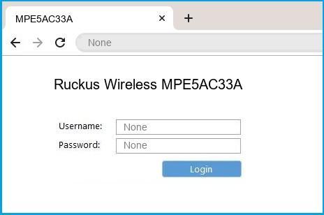Ruckus Wireless MPE5AC33A router default login