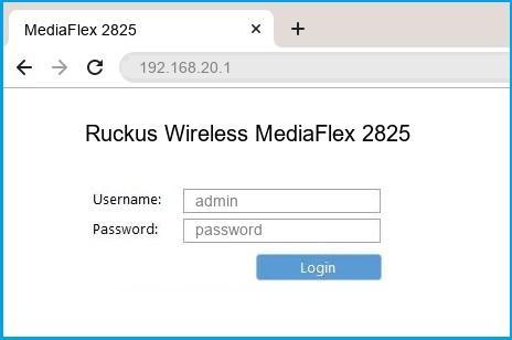 Ruckus Wireless MediaFlex 2825 router default login