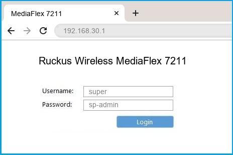 Ruckus Wireless MediaFlex 7211 router default login