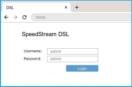 SpeedStream DSL router default login