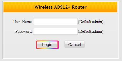 Tenda W300D router default login