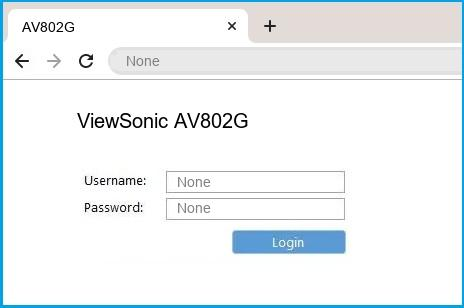ViewSonic AV802G router default login