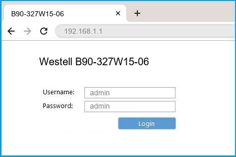 Westell B90-327W15-06 router default login
