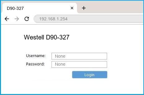 Westell D90-327 router default login