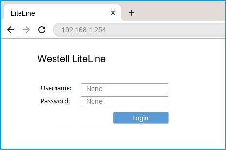 Westell LiteLine router default login