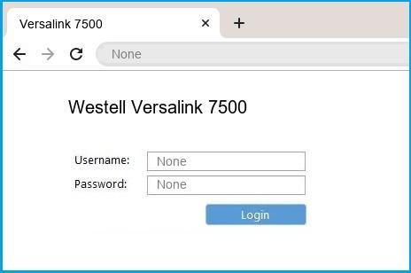 Westell Versalink 7500 router default login