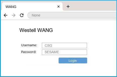 Westell WANG router default login